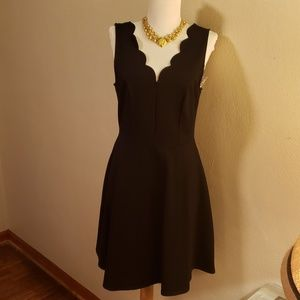 Aqua black dress. Size large